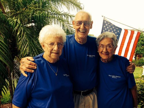 Three long-term volunteers
